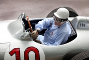 <h5>Sir Stirling Moss in W196 Mercedes</h5><p>Sir Stirling Moss in W196 Mercedes</p>